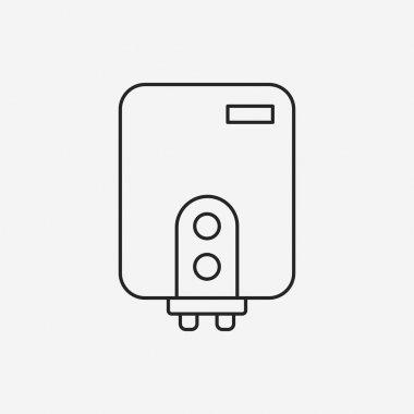Water Heater line icon clip art vector