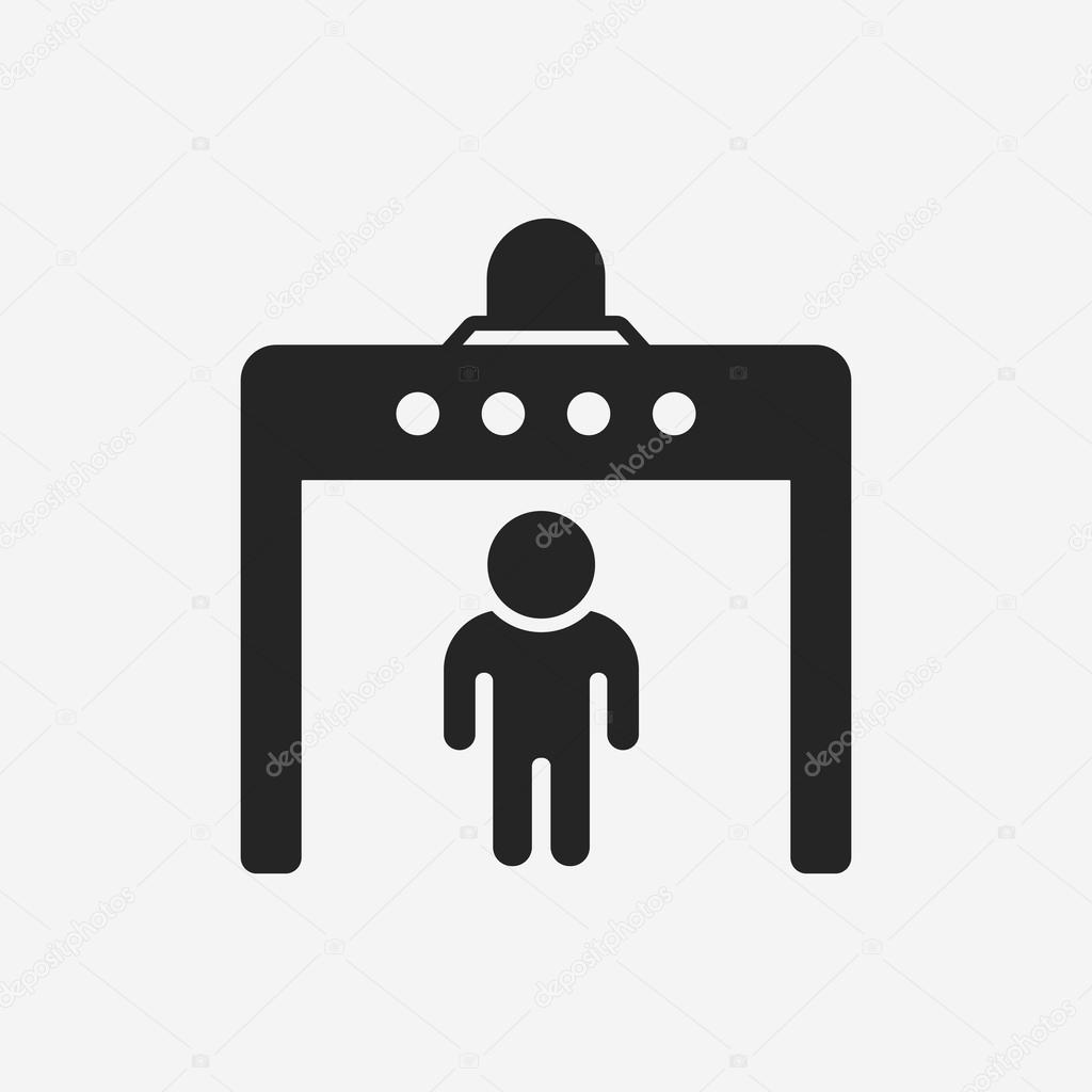 Security gate icon — stock vector vectorchef