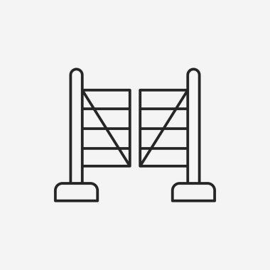 garden fence line icon