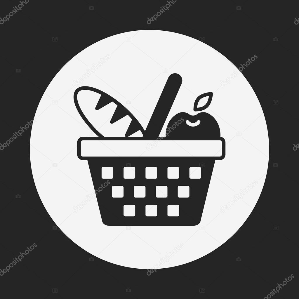 picnic basket icon � stock vector 169 vectorchef 81244970