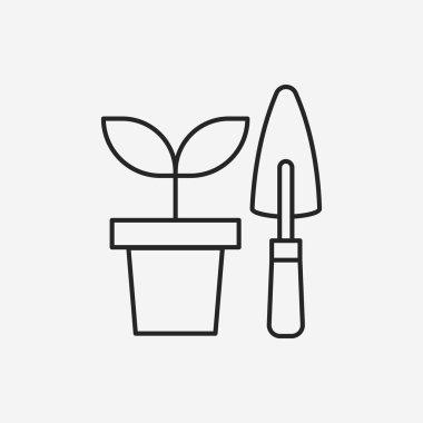 Gardening shears line icon