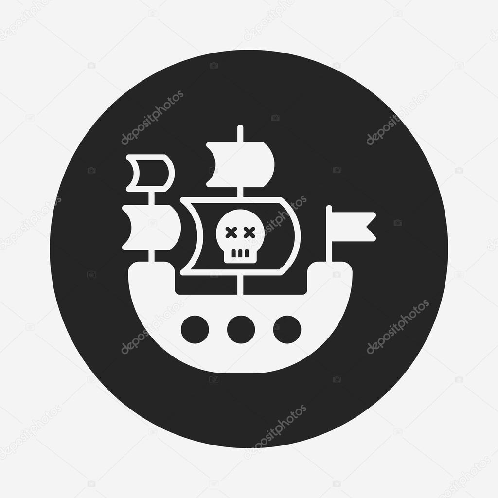 ícone de navio pirata — Vetores de Stock © vectorchef  81264346 a634ab0d19195