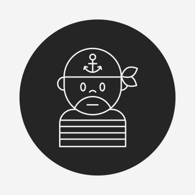 pirate line icon