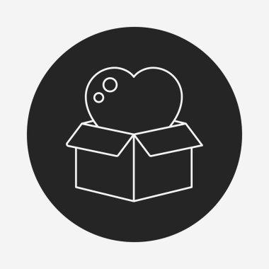 Donation line icon