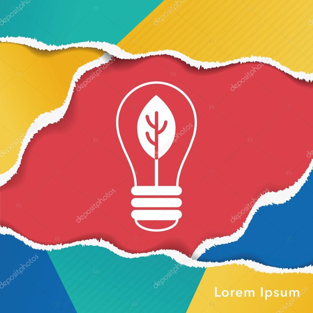 Umweltschutz-Konzept, Energie zu sparen; Schalten Sie Licht ...