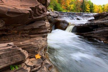 Michigan's Upper Peninsula Bonanza Falls in Autumn