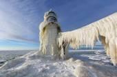 St. Joseph világítótorony téli jég függöny