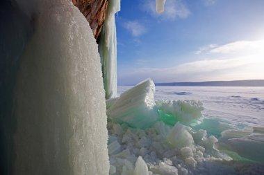 Broken Ice Curtains - Grand Island, Munising, Michigan