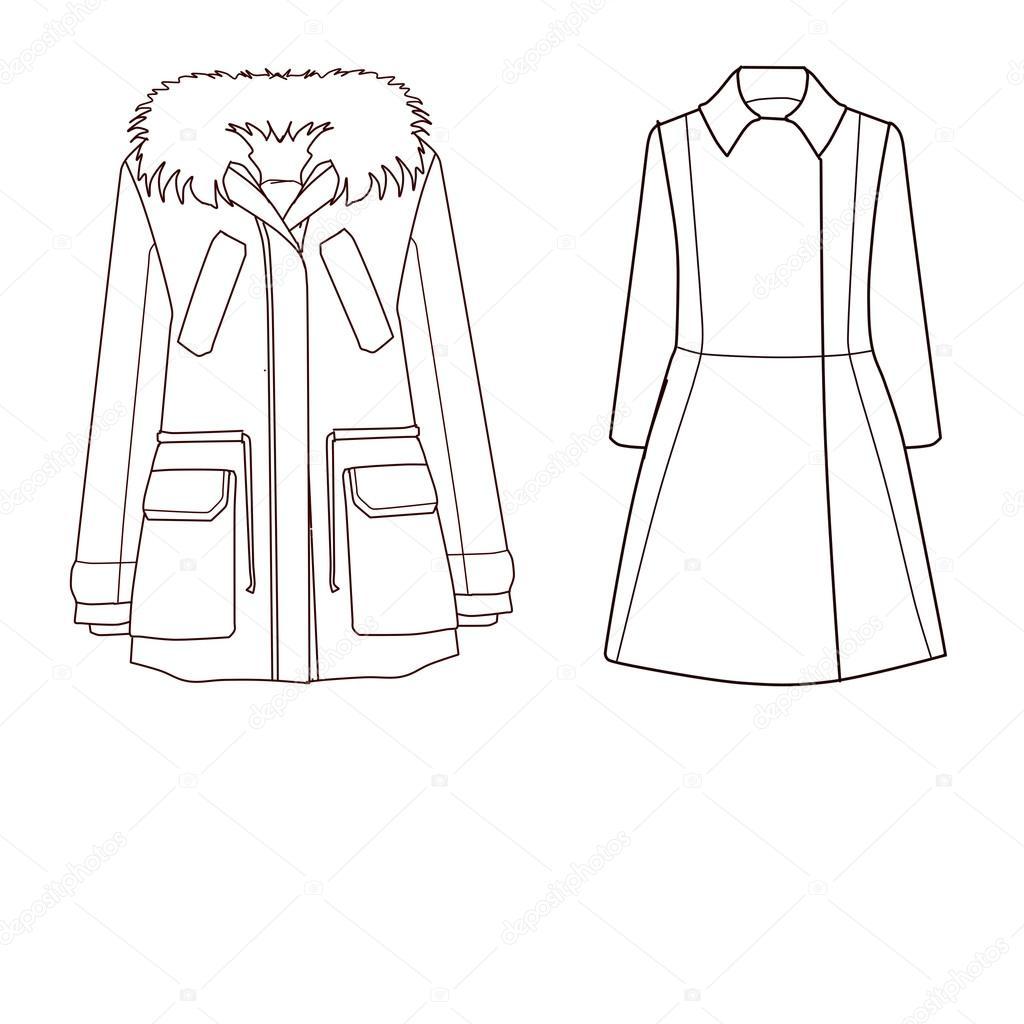 Reihe von technischen und industriellen Flat Mode Vorlage - Mantel ...