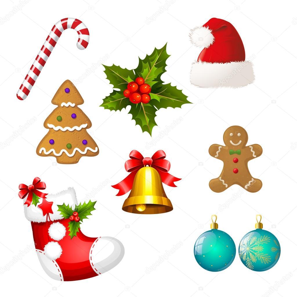 Imágenes: prediseñadas navidad | Conjunto de iconos de Navidad ...
