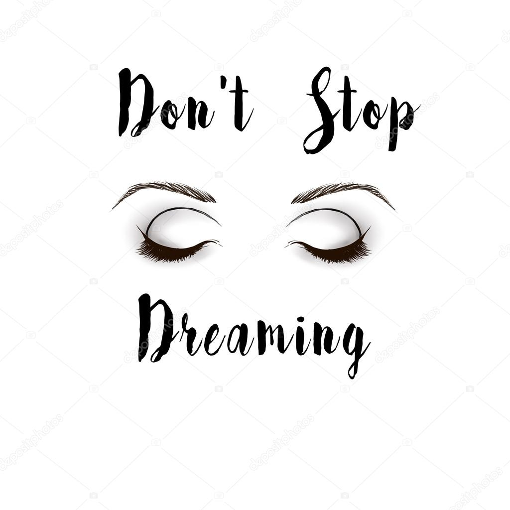 Black And White Fashion Illustration Eyes And Text Quote On White