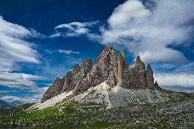 Tre Cime Di Lavaredo - mountain peaks in Dolomite Alps, Italy