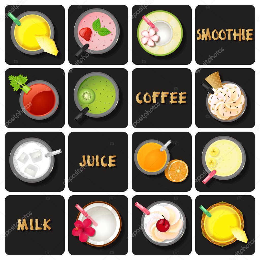 Illustration of beverage collection