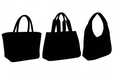 Womens bags in a set. Vector image.