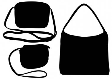 Small handbags in the set.