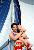 Baby on board. Yachting