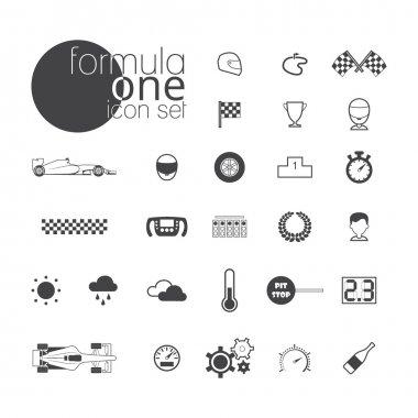 Formula one icon set