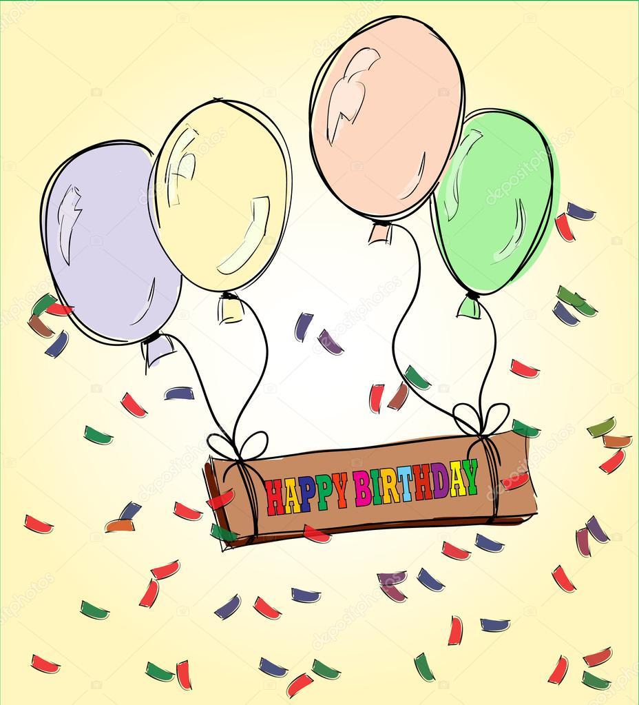 Рисуем открытку на день рождения брату, осень