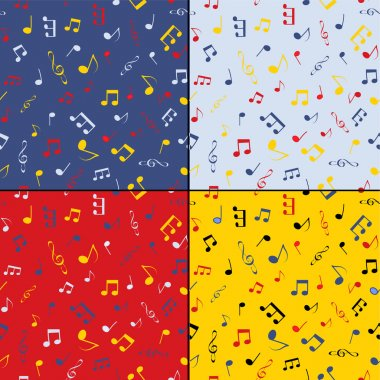 Musical seamless background set