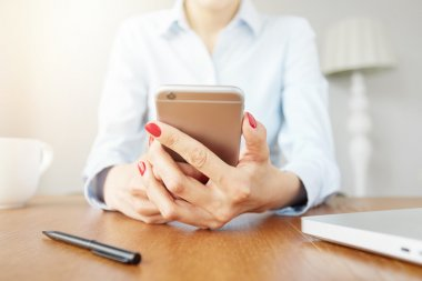 student girl messaging on mobile phone