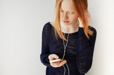 student girl using mobile phone