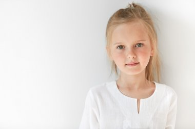 female child with green eyes