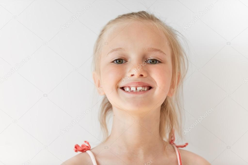 Blond European little girl