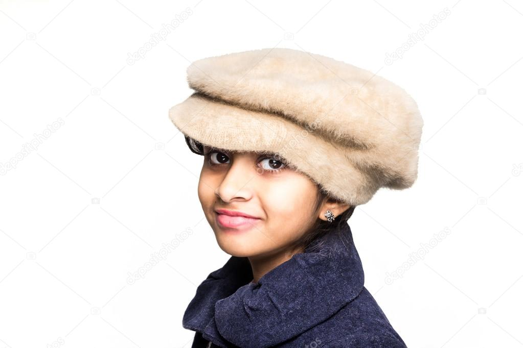 6433d755ef5 Little girl wearing a hat — Stock Photo © XubayrMayo  66696977