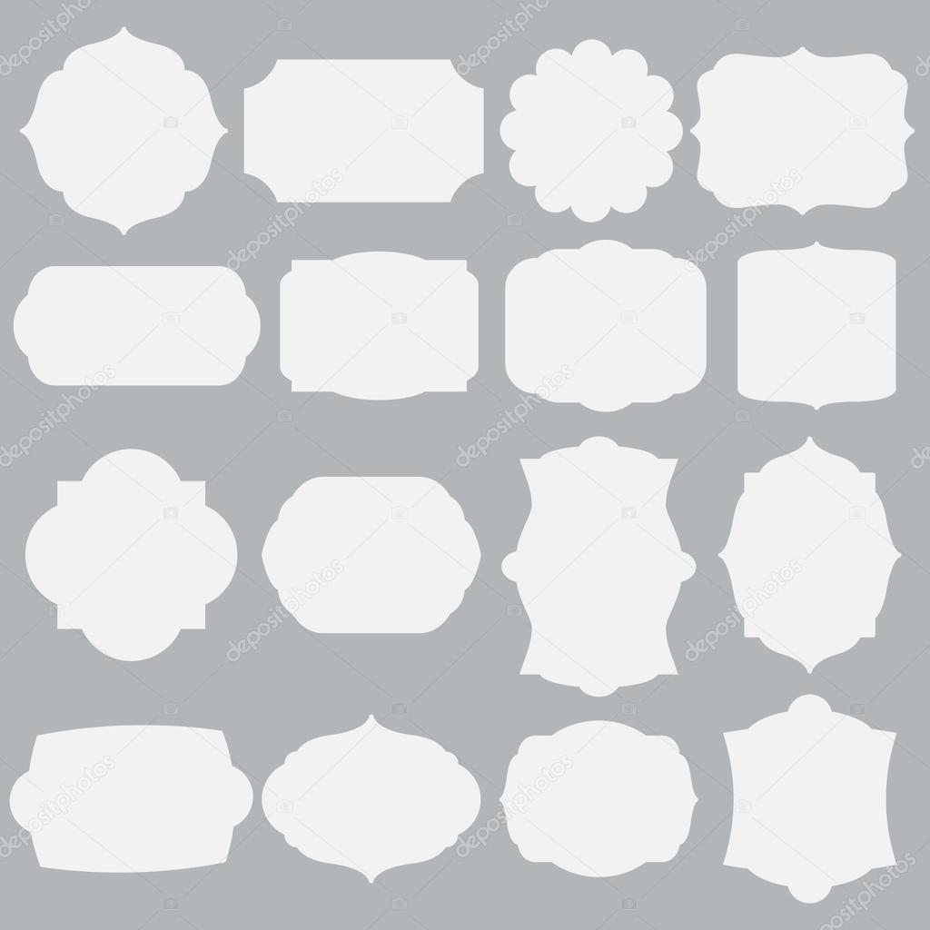 Satz von Silhouette Rahmen — Stockvektor © Insh1na #117850294