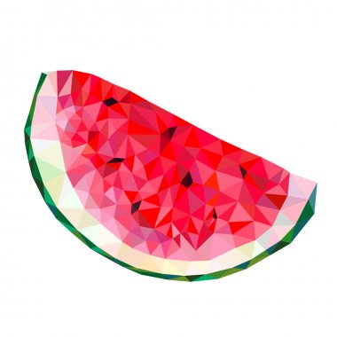 abstract watermelon triangles on a white background