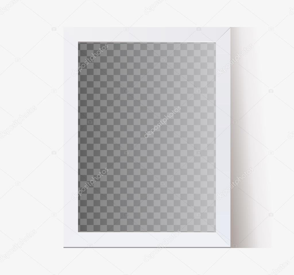 weißer Vektor transparenten Hintergrund, Rahmen für Fotos und eine ...