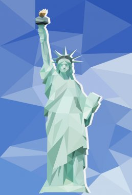 Statue of Liberty with the background of polygonal