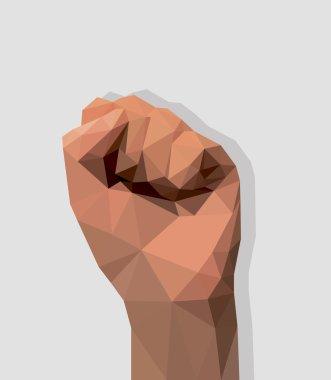 hand raised fist up