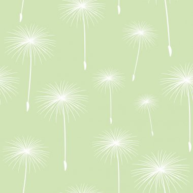 Pattern seamless texture background fluffy dandelion White on li