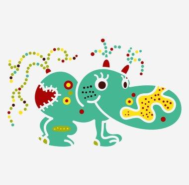 Monster creature essence bacteria virus UFO alien small hippo in
