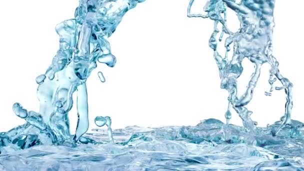 Blue Water Splash, with alpha channel (FULL HD)