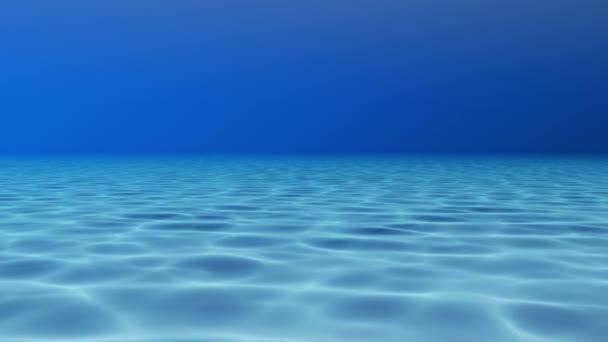 Modrou vodou bazén, podvodní pohled