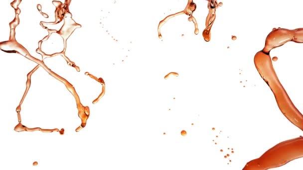 Letí tekuté Splash. Alkohol, čaj, Cola.