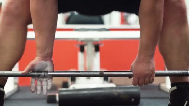 Weightlifter training a dead lift