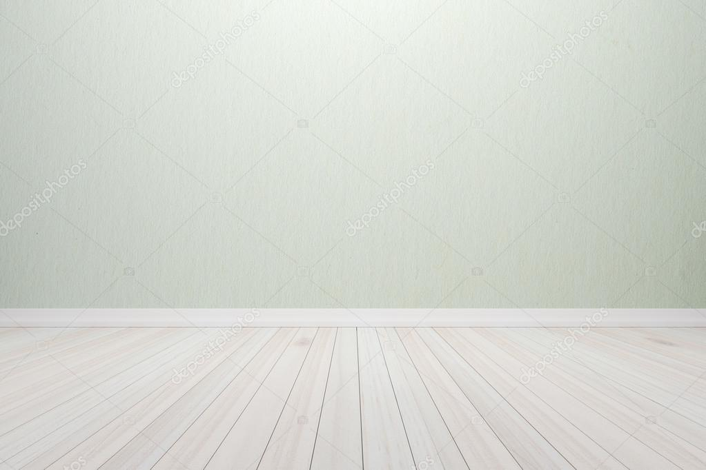 Empty Interior Wood Room White Light Colors Wall And Floor, For Display Of  Product. U2014 Foto Von Sombats