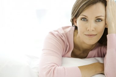 Middle aged woman relaxing