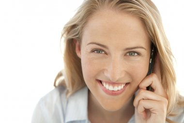 Portrait of a young woman on the phone