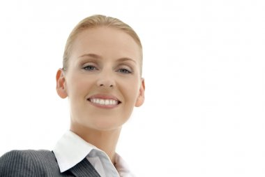 businesswoman / manager over white background