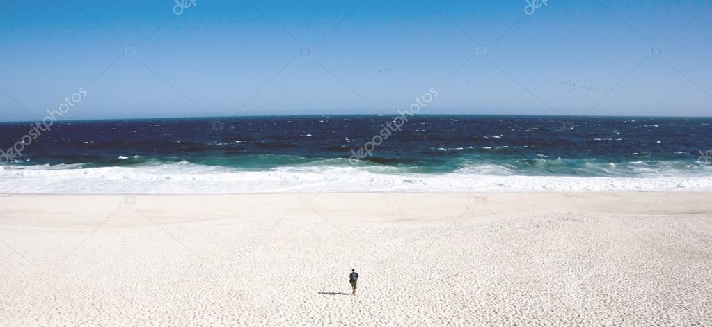 Single man on a beach