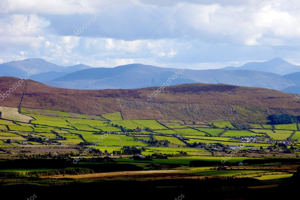 Irish landscape near Anascaul village on Dingle peninsula