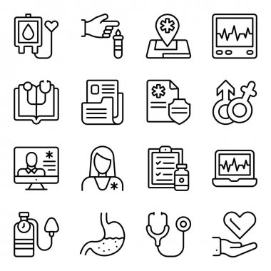 Pack of Medical Care Linear Icons icon