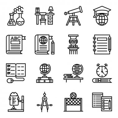 Pack of Learning Linear Icons icon
