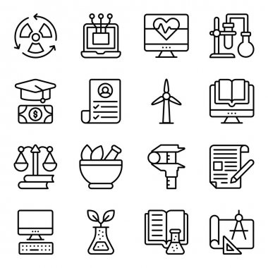 Pack of Education and Learning Linear Icons icon