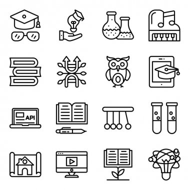Pack of Education and Knowledge Linear Icons icon