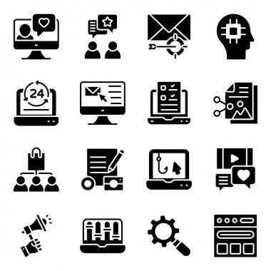 Seo and Media Solid Icons Pack icon